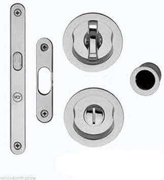 Cerraduras/asas con condena para puertas correderas de hierro cromado mm.50: Amazon.es: Bricolaje y herramientas