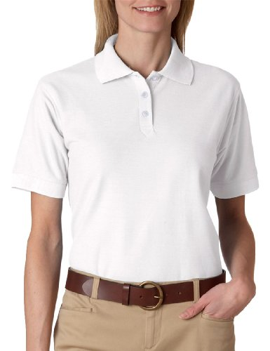 Ultraclub Ladies' Whisper Piqué Polo Shirt, Apple, X-Large