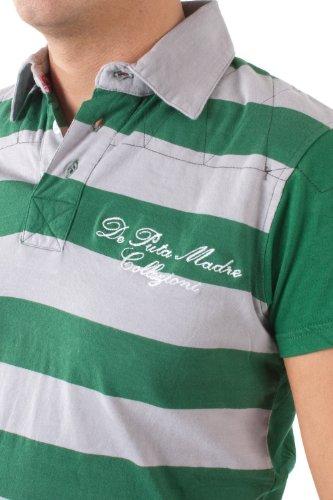 De Puta Madre 69 Herren Poloshirt grau-grün gestreift 4287-S128-1350