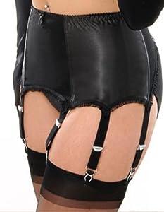 What Katie Did L2003 Maitresse Black Satin Suspender Belt UK 14/ US 10/ FR 42/ EU 40 Black