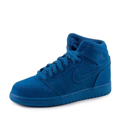 Nike Boys Air Jordan 1 Retro High BG Royal Leather Size 4Y (Air Jordan 1 Retro Royal)