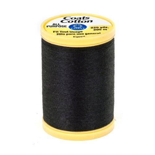 Coats & Clark General Purpose Cotton 225 yd. Black, Black