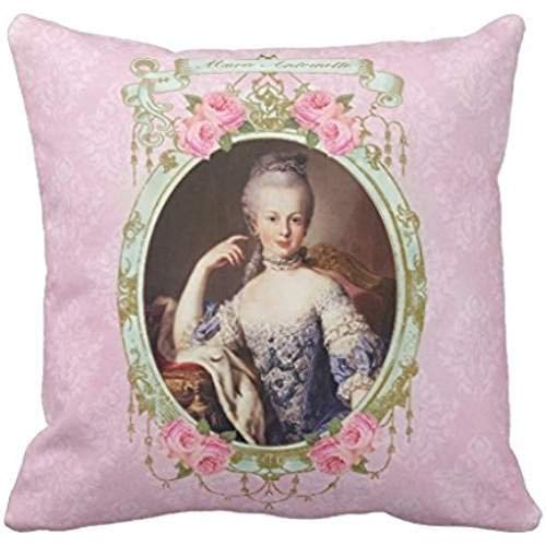 GOOESING Marie Antoinette Rose Pink Damask Pillow Cushion Case