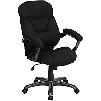 Sensational Amazon Com Aberdeen High Back Black Fabric Executive Swivel Pdpeps Interior Chair Design Pdpepsorg