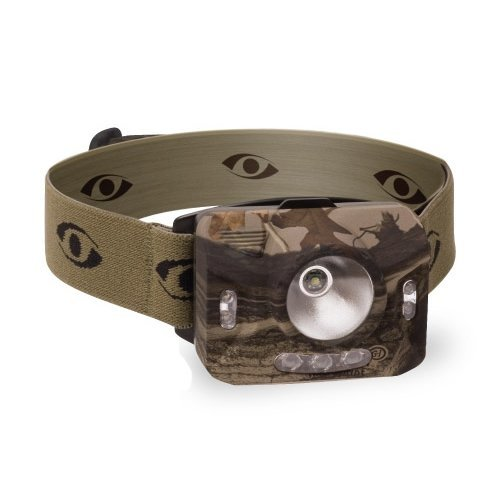GSM Outdoors CYC-RNG1XP-CMO Cyclops Ranger Xp 4 Stage Headlamp with 3 Green LED Lights, NXT Camo Strap