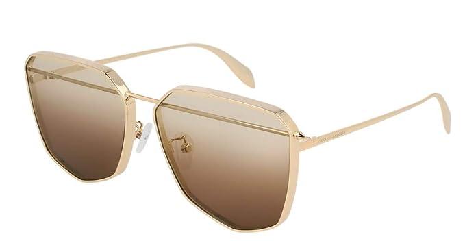 Amazon.com: Alexander McQueen AM-0136 S - Gafas de sol ...