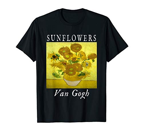 Sunflowers Vincent Van Gogh T-Shirt Gift Impressionist Art