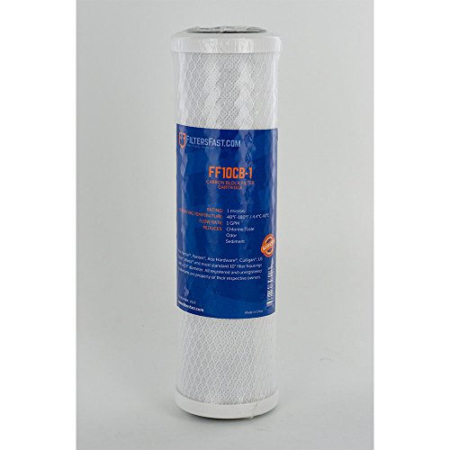 Pentek CB1-10 Comp Carbon Filter by Filters Fast - 1 Micron Carbon Block