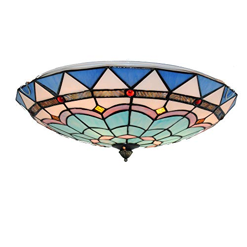 Tiffany Style Ceiling Light 16 Inch Natural Shell Phoenix Handmade Restaurant Study Ceiling Lamp (Phoenix Furniture Restaurant)
