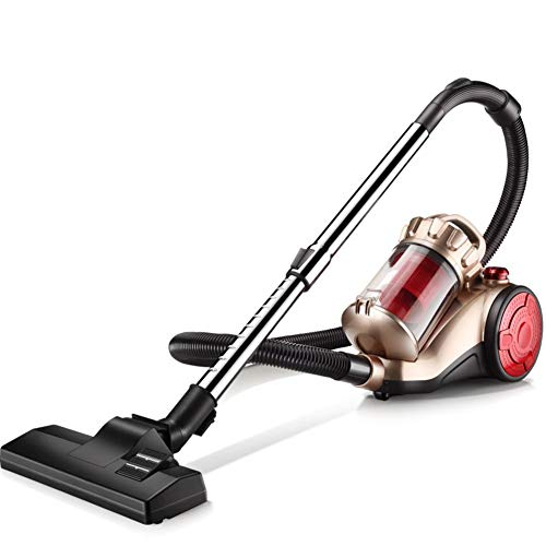 Aich Bagless Canister Vacuum Cleaner Allergy Safe Vacuuming and Killing Mites Long 6m Power Cable, Washable dust Cup 1400w, 2.0l-Champagne Gold