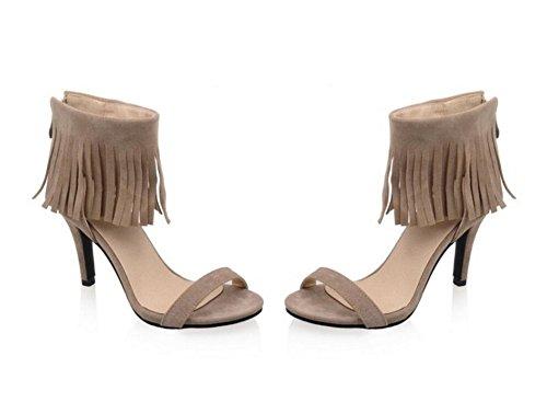 8cm Tous Mesdames 36 Les xie Jours Shopping Romaines 41 fête Khaki gommages Chaussures Glands 33 Sandales été 7dqwzA