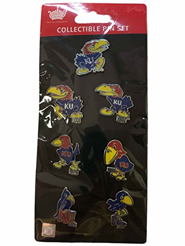 Kansas Jayhawks Lapel Pins (Kansas Jayhawks Aminco Evolution of the Jayhawk Metal Lapel Pin Set (7 Pack))