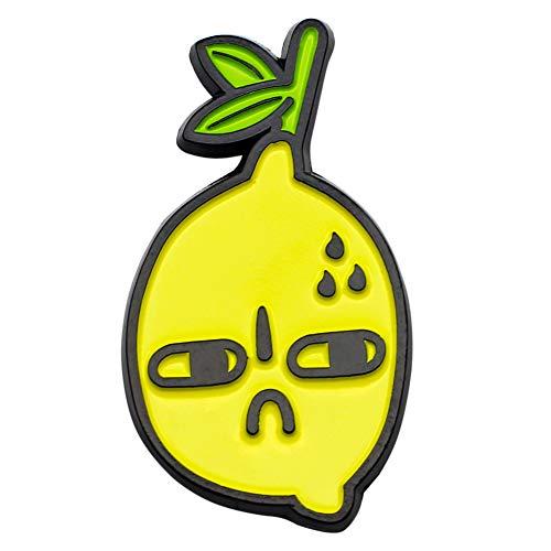 Lemon Enamel - CUFTS SourLemon Hard Enamel Lapel Pin Slightly Bitter Lemon Brooch Fruit Accessory Jewelry