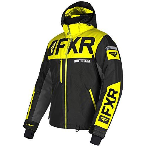 FXR Mens Helium X Jacket (Black/Hi Vis/Charcoal, Large)