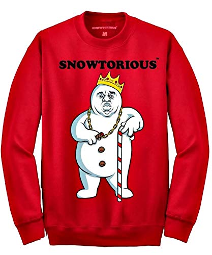 Snowtorious - Ugly Christmas Sweater (red, XL) -