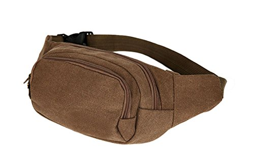 Coffee Mens Military Cycling Waist Fanny Pack Bum Belt Bag Pouch Travel Hip Purse New from Unknown