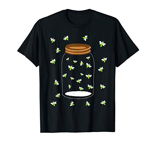 Fireflies Bugs In A Jar Firefly Lightning Insects T-Shirt -