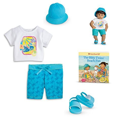 American Girl Bitty Twins Sailboat Swim Outfit for 15