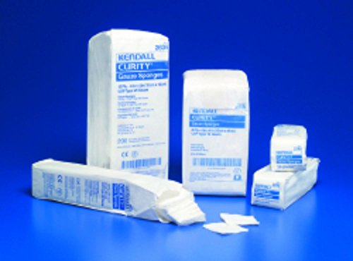 COVIDIEN Sponge Dressing Curity Cotton 12-Ply 4 X 4'' Square (#2634, Sold Per Case) by Curity