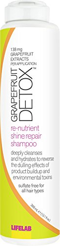 LifeLab Grapefruit Detox Shine Repair Shampoo |Reverse the Dulling Effect of Hair Product Buildup and Hard Water, 13.1 Fl Oz