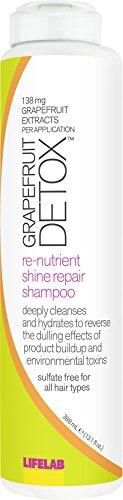 LifeLab Grapefruit Detox Shine Repair Shampoo |Reverse the Dulling Effect of Hair Product Buildup and Hard Water, 13.1 Fl Oz