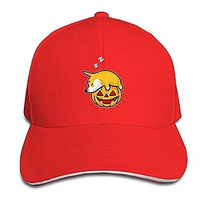 Fenme Corgi Dog Unisex Sandwich Caps Cute Snapback Hats Casual Trucker Hats Fashion Snapback Cap