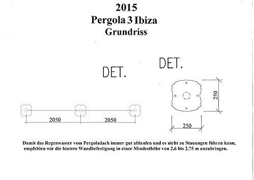 Pergola Ibiza - Cenador para terraza (galvanizado en caliente ...