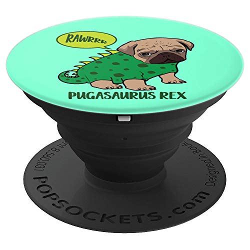 Pugasaurus Rex Cute Pug Dinosaur T Rex Halloween Costume - PopSockets Grip and Stand for Phones and Tablets
