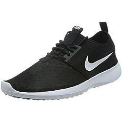NIKE Women's Juvenate Sneaker, Black/White, 10 B US
