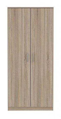 NIKO furniture24.eu 2 TRG Kleiderschrank Schlafzimmer Universalschrank Garderobe Dielen-Schrank Sonoma Eiche