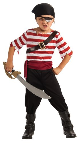 Halloween Sensations Child's Black Jack The Pirate Costume, Medium