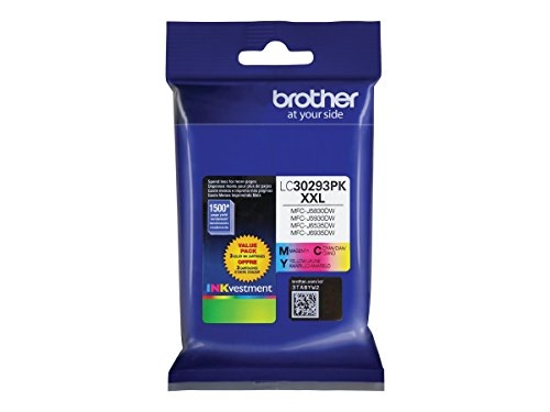 Brother LC30293PK Super High Yield 3 Pack Ink (Cyan Brother Ink)