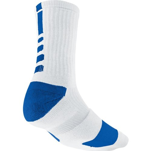 Basketball Unisex Nike Sock Crew White Adult Blue Elite SMLX wZqt4gq