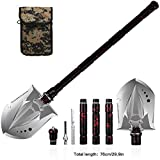ANTARCTICA Military Portable Folding Shovel Multitool Compact Backpacking Tactical Entrenching Tool for Hunting, Camping(Red)