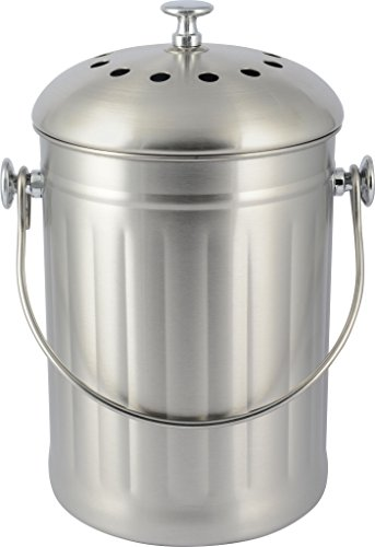 Uncle Jim's Worm Farm Stainless Steel Compost Crock