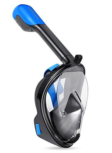 Octobermoon 180° Snorkel Mask Full Face Free Breathing Design Snorkeling Mask