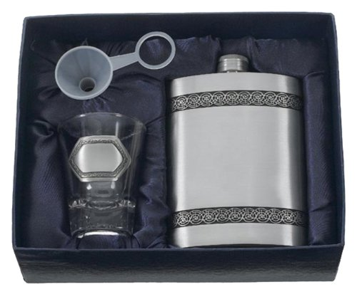 Visol''Viking'' Genuine Pewter Flask Gift Set