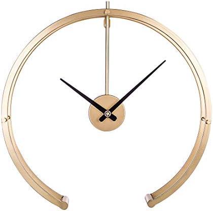 KEEPH Wanduhr Groß 50CM Eisen Wanduhr Lautlos Wanduhren Dekorativ Uhr