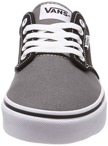 Hombre Logo gray Canvas Black Atwood Negro Zapatillas Vans Veg sidewall Para xq7nIA0a