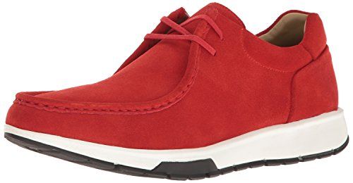 Calvin Klein Men's Kingsley Oily Suede Fashion Sneaker, Cardinal Red, 10.5 M US (Mens Red Sneakers)