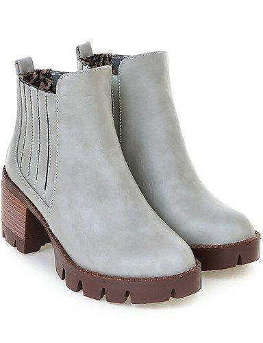hiver chaussons White plate forme Pour Carrière automne us6 Talon 5 7 5 Printemps Chunky Xzz Cn37 Talons De Uk4 Eu37 décontracté robe Bottes Rond chaussures Bureau Femme 5 bout Gore ntw1P0v