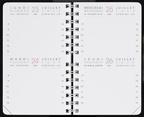 /à D/éc 2020 INT 83.13//2-1 RECHARGE AGENDA BI-JOURNALIER de Janv AGENDA MODERNE Format 8 x 13 cm