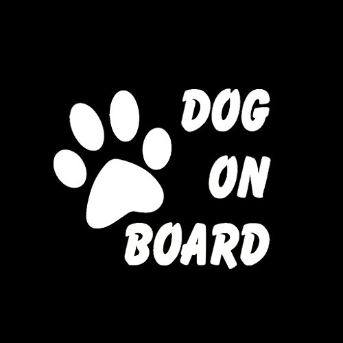 Dog On Board Dog Paw Decal Vinyl Sticker|Cars Trucks Vans Wa