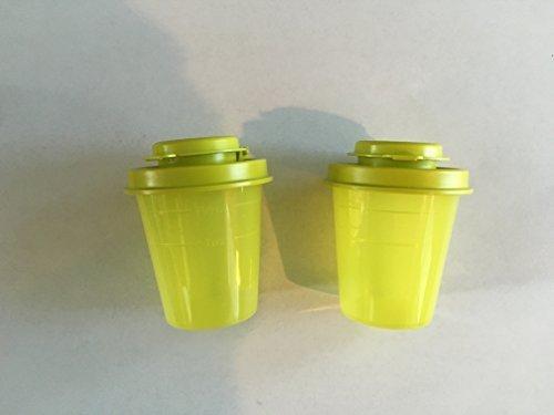 Tupperware Salt and Pepper Shakers Mini Midgets Set in Yellow (Salt And Pepper Shakers Plastic)