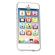 Cooplay Yphone Y-phone Toy Play Music Cell Phone Mobile Phone Cellphone Touch Screen with USB Recharable Cable for Baby Kids Sets of 1 (White) by Cooplay