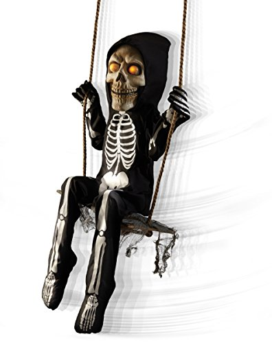 amazoncom spirit halloween 3 ft swinging skeleton boy animatronics decorations toys games - Spirit Halloween Animatronics