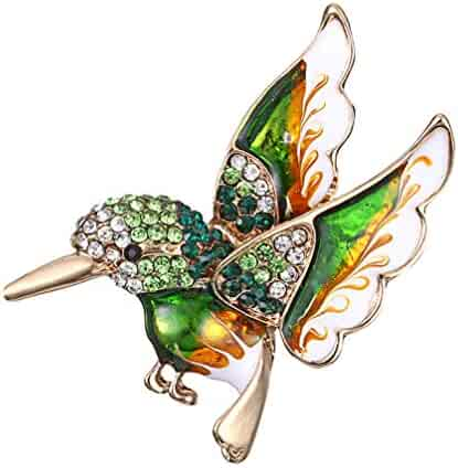 0dcb0b96e Myhouse Women's Crystal Birds Animal Shaped Christmas Brooch Pin Jewelry