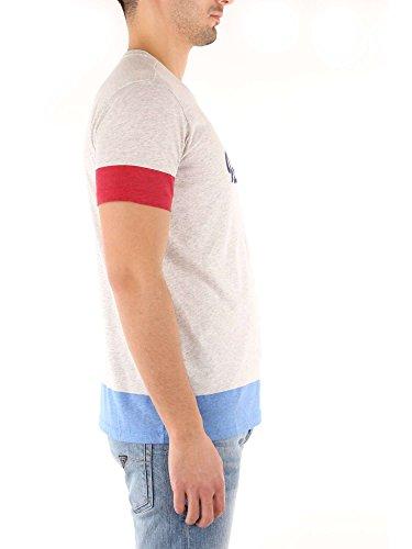 Woolrich Penn Melange Canotte rich T Uomo E Logo Grey L Tee Wytee0411 shirt Block UUq7Zrd