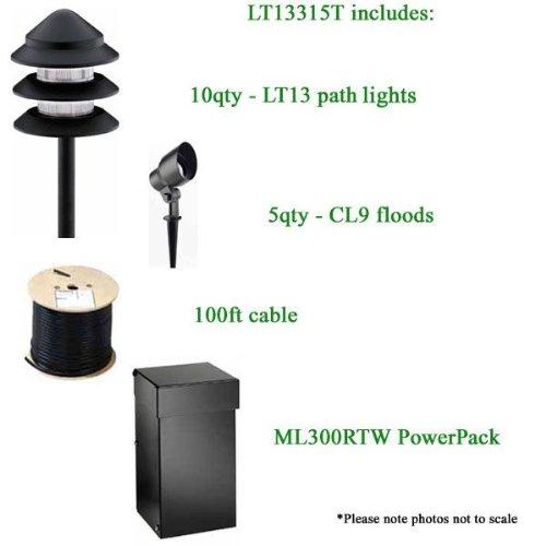 - Intermatic Malibu LT13315T Low Voltage Ten-LT13, Five-CL9, 100 Ft. 12/2 Cable, ML300RTW Watt Power Pack - Complete Kit