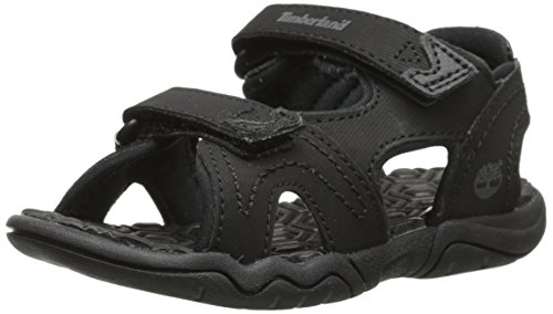 (Timberland Adventure Seeker Two-Strap Sandal (Little Kid),Blackout,1 M US Little Kid)